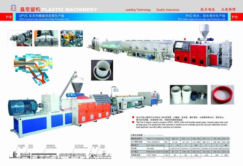 pvc pipe production line-QINGDAO XINQUAN PLASTIC MACHINERY CO , LTD