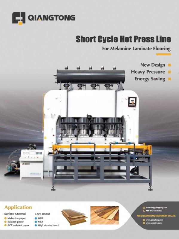 Short Cycle Hot Press Machine for Laminating Flooring-WUXI